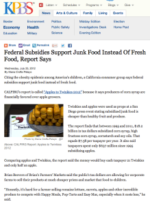 Federal Subsidies Support Junk Food Instead Of Fresh Food, Report Says