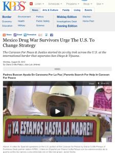 Mexico Drug War Survivors Urge The U.S. To Change Strategy