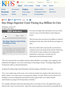 San Diego Superior Court Facing $14 Million In Cuts