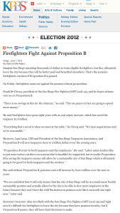 Firefighters Fight Against Proposition B