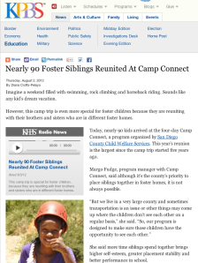 Nearly 90 Foster Siblings Reunited At Camp Connect