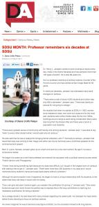 SDSU Month: Professor remembers six decades at SDSU