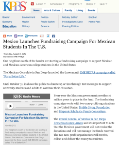 Mexico Launches Fundraising Campaign For Mexican Students In The U.S.