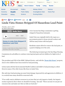 Linda Vista Homes Stripped Of Hazardous Lead Paint