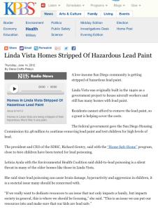 Linda Vista Homes Stripped Of Hazardous Lead Paint