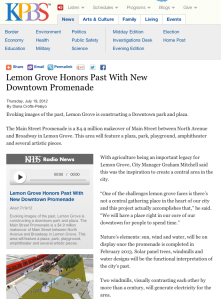 Lemon Grove Honors Past With New Downtown Promenade
