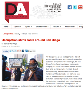 Occupation shifts roots around San Diego