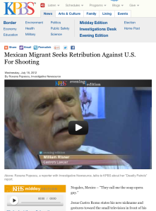 Mexican Migrant Seeks Retribution Against U.S. For Shooting