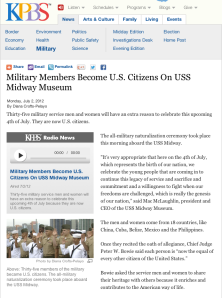Military Members Become U.S. Citizens On USS Midway Museum